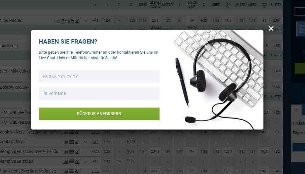 1xbet Telefonrückruf Wettangebot Erfahrungen Sportwetttentest ueber unter sportwetten