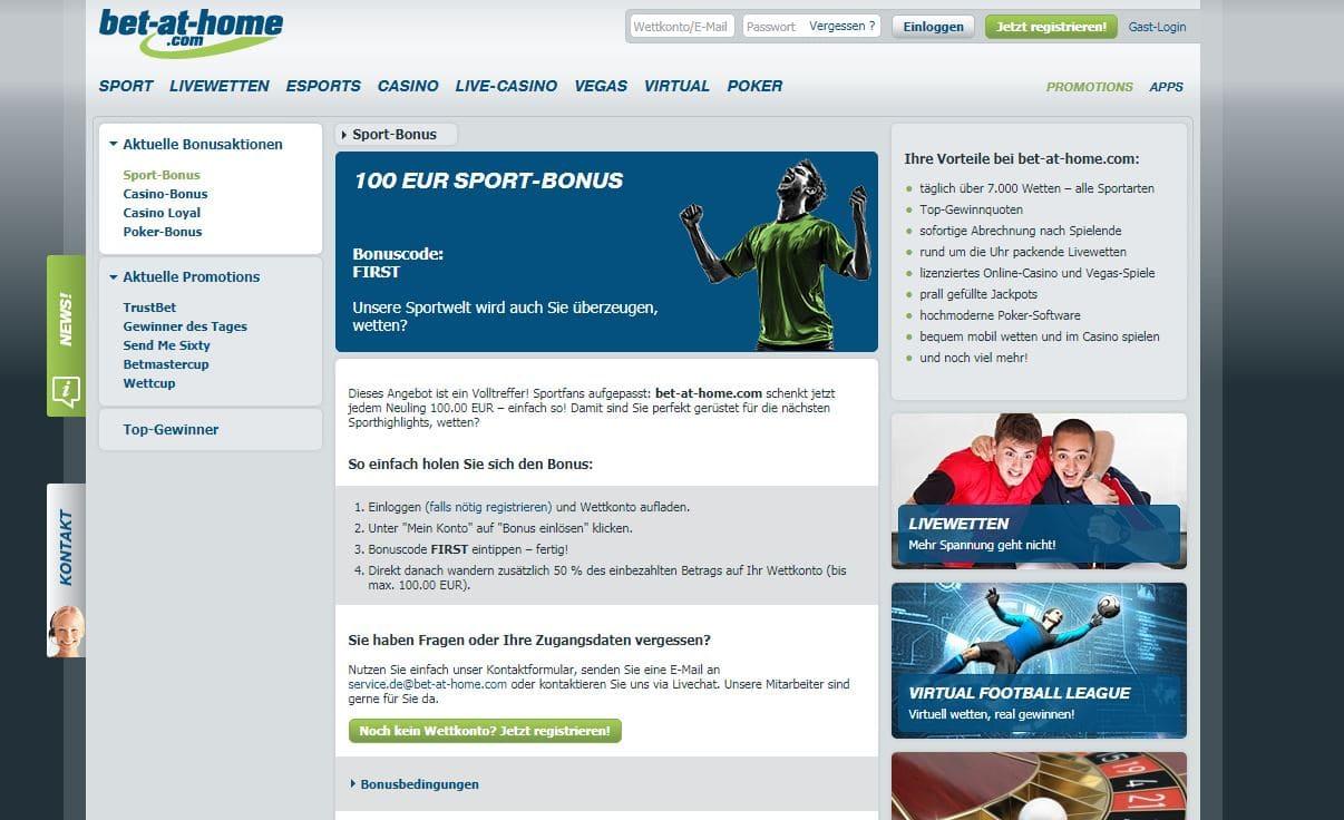 Online Wetten Bonus Bet At Home Telefonnummer Wiring Library