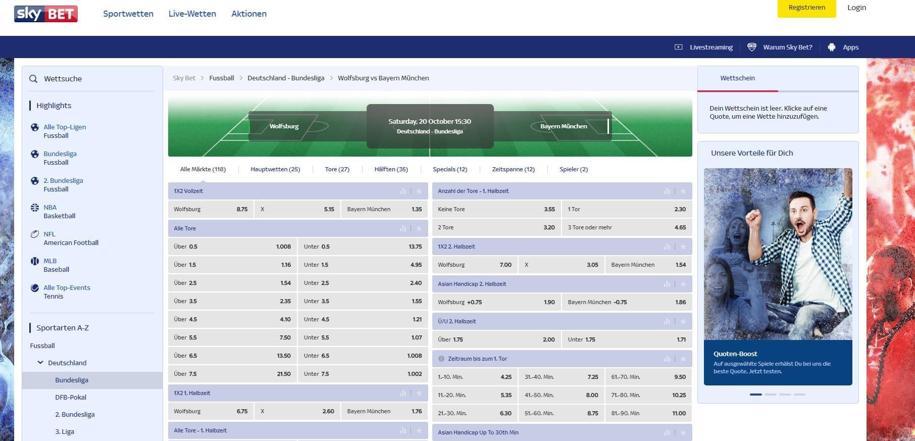Skybet Wettausauswahl Sky Bet Startseite Erfahrungen Sportwetttentest ueber unter sportwetten