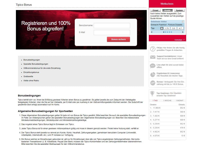 Tipico Bonus Tipico Startseite Erfahrungen Sportwetttentest ueber unter sportwetten