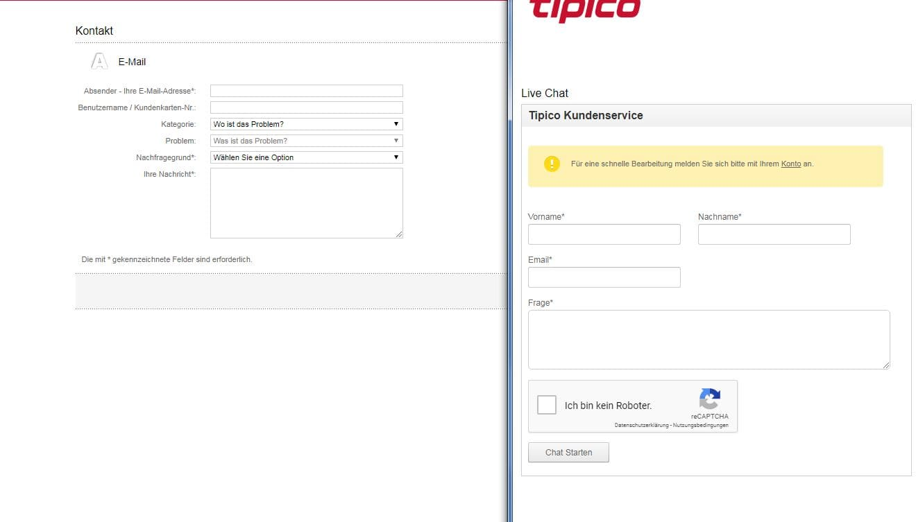 Kundenservice Tipico