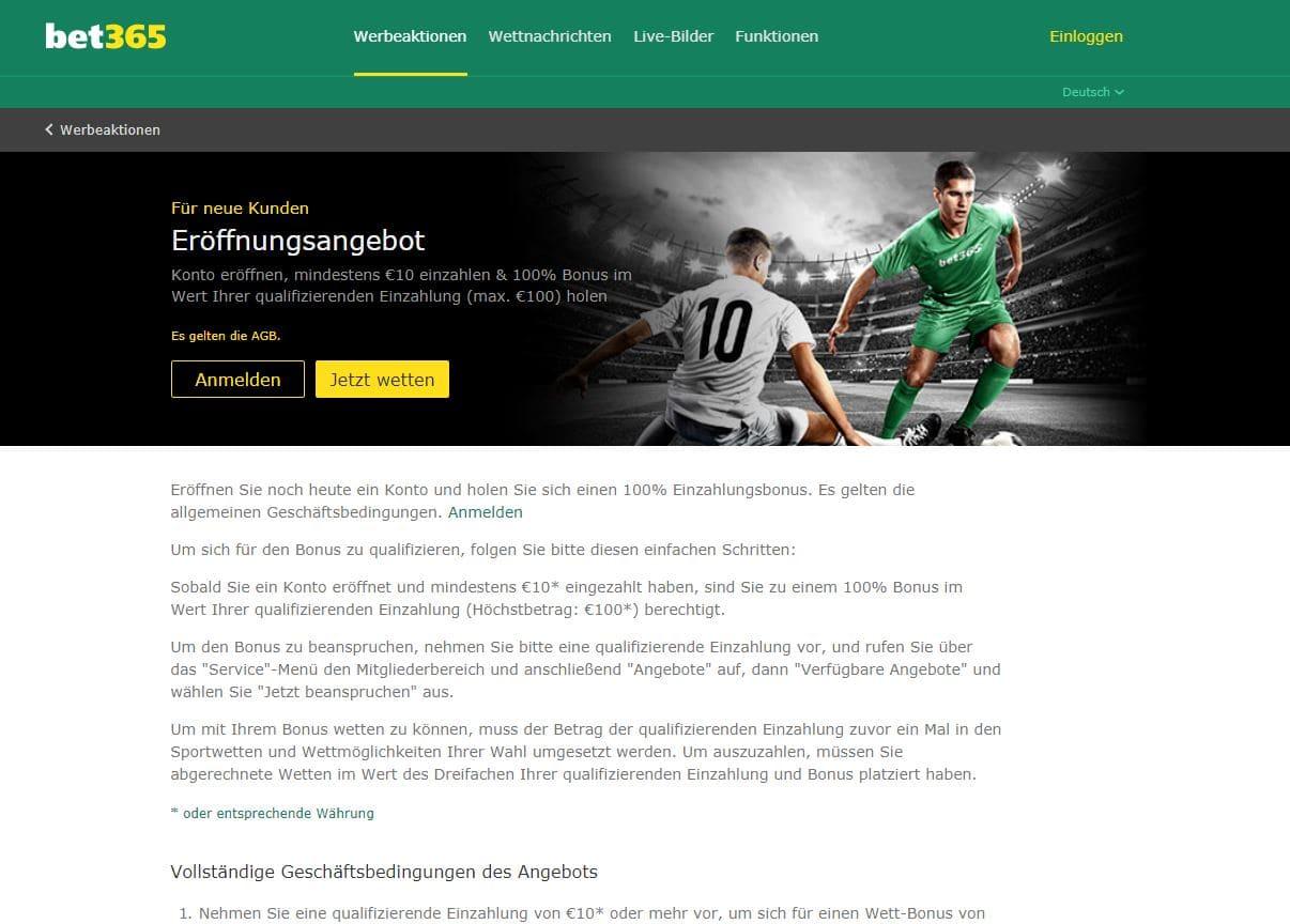 bet365 Neukundenbonus Wettangebot Erfahrungen Sportwetttentest ueber unter sportwetten